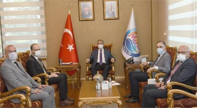 Mersin'e Gelen Mta Genel Müdürü Doç. Dr. Yasin Erdoğan, Vali Ali İhsan Su'yu Makamında Ziyaret Etti