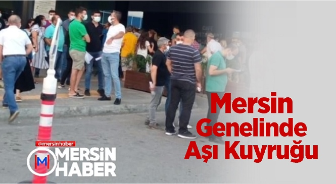 Sağlık Bakanı Koca'nın Açıklamalarının Ardından Mersin'deki Hastanelerde Kovid-19 Aşı Kuyruğu Oluştu! Aşılama Büyük Bir Hızla Devam Ederken Bugün 1 Milyonuncu Aşının Yapıldığı Müjdesi Geldi