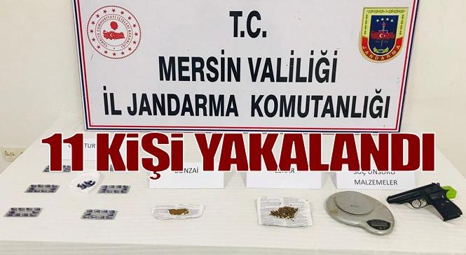 Mersin'in Dört Farklı İlçesinde Uyuşturucu Operasyonu! 11 Şüpheli Gözaltına alındı