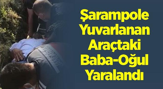 Mersin'in Tarsus İlçesinde Kontrolden Çıkan Araç Şarampole Yuvarlanarak Takla Attı: 2 Yaralı