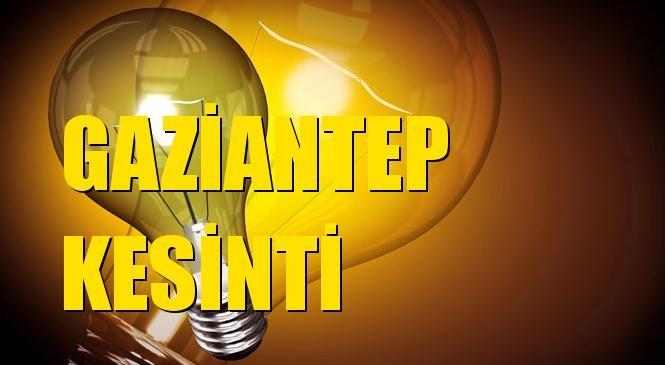Gaziantep Elektrik Kesintisi 01 Temmuz Perşembe