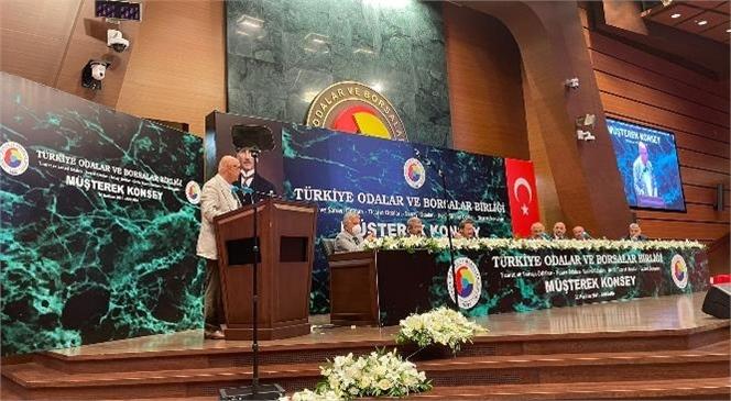Başkan Murat Kaya, Ankara TOBB Birlik Merkezinde Gerçekleşen TOBB Müşterek Konsey Toplantısı'na Katıldı