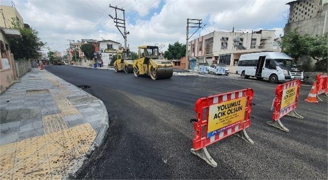 Mersin Büyükşehir, Tarsus'ta İstiklal Caddesi İkinci Kısmını da Asfaltladı