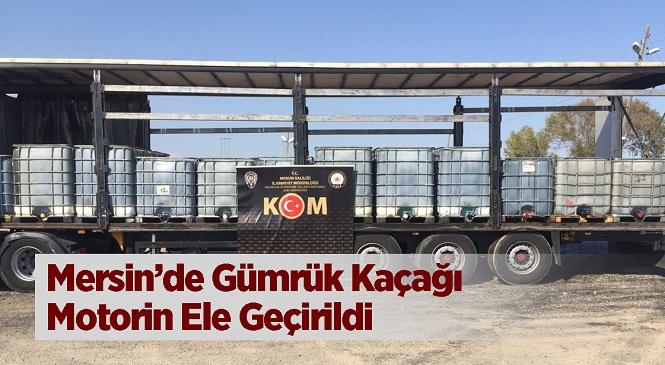 Mersin'de Ekiplerin Durdurduğu Tırda Litrelerce Gümrük Kaçağı Motorin Ele Geçirildi