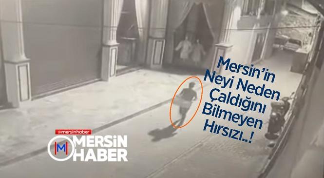Mersin'de Bir Garip Hırsızlık! İçine Çamaşır Olan Sepeti Çalan Hırsız Kameralara Yansıdı