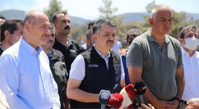 Tarım ve Orman Bakanı Bekir Pakdemirli, Son 5 Günde 132 Yangından 125'ini Kontrol Atına Aldıklarını, 7'sinin Devam Ettiğini Belirtti