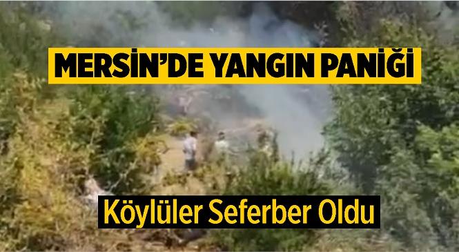 Mersin Gülnar'da Sabah Saatlerinde Yangın Çıktı