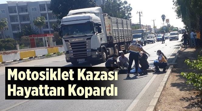 Mersin'de Motosiklet Mobiletle Çarpıştı! Feci Kazada Kemal G. Hayatını Kaybetti, Mobilet Sürücüsü Yaralandı