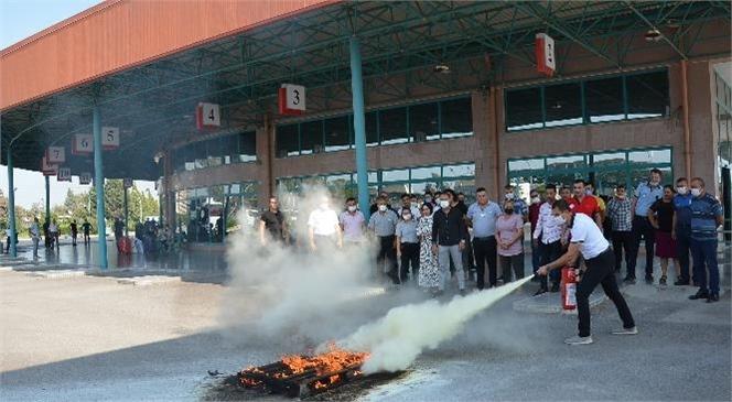 Büyükşehir'e Bağlı TAŞTİ'de Personel Yangın Konusunda Bilgilendirildi