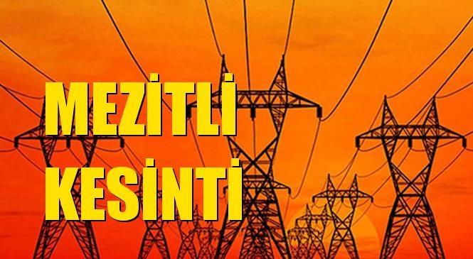 Mezitli Elektrik Kesintisi 02 Eylül Perşembe