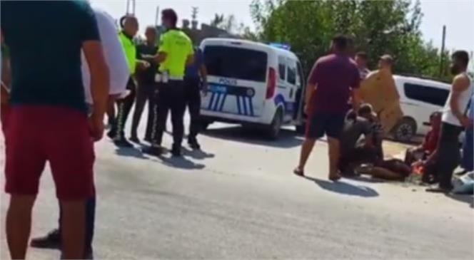Mersin Adanalıoğlu Mahallesinde Motosiklet Kazası Meydana Geldi