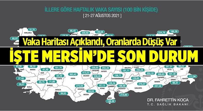 Sağlık Bakanı Fahrettin Koca İllere Göre Haftalık 100 Bin Kişide Görülen Vaka Sayılarını Açıkladı! İşte Mersin'de Son Durum…