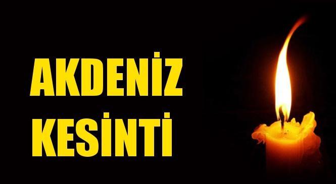 Akdeniz Elektrik Kesintisi 09 Eylül Perşembe