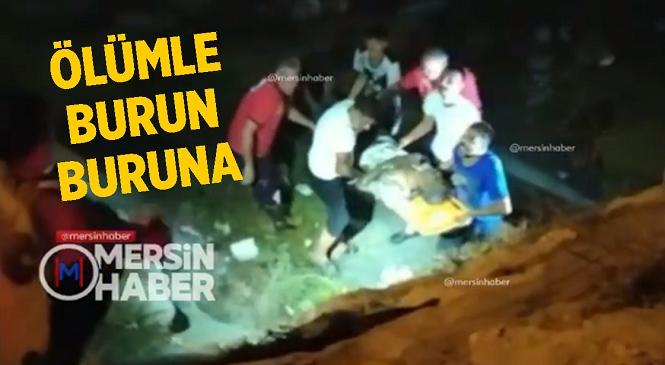 Mersin'in Tarsus İlçesinde Sulama Kanalına Düşen Vatandaşı İtfaiye Ekipleri Kurtardı