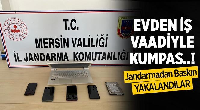 Mersin İl Jandarma Komutanlığı Siber Suçlarla Mücadele Şube Müdürlüğünce Yapılan Operasyonda 3 Şüpheli Yakalandı