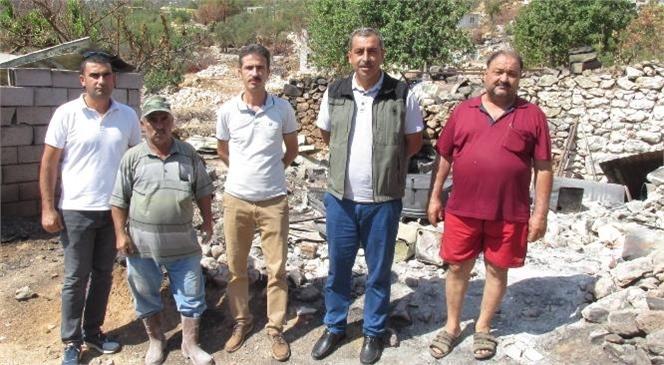 Mersin'de Orman Yangınlarında Zarar Gören Vatandaşlara Orköy Hibe Desteği