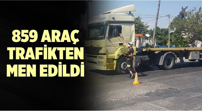 Mersin'de 859 Araç Trafikten Men Edildi