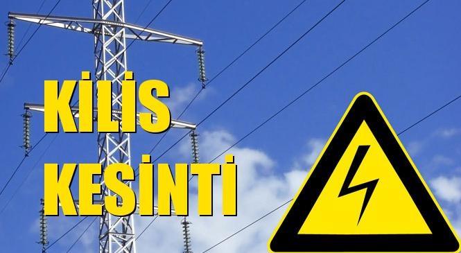 Kilis Elektrik Kesintisi 27 Eylül Pazartesi
