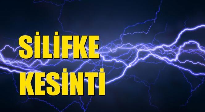 Silifke Elektrik Kesintisi 04 Ekim Pazartesi