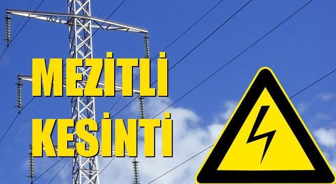 Mezitli Elektrik Kesintisi 16 Ekim Cumartesi