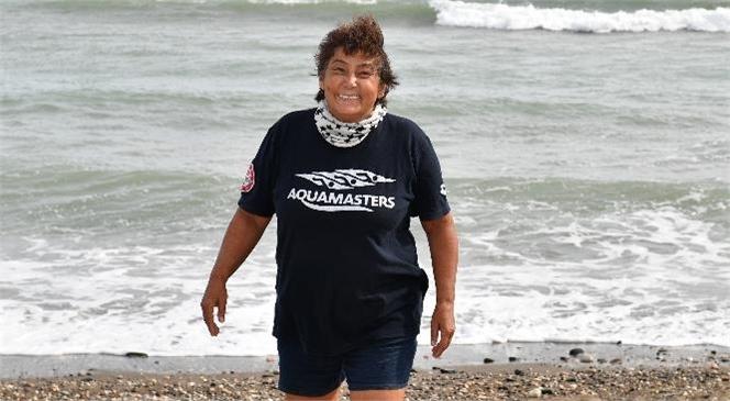 Büyükşehir'in Yüzme Maratonu'na Nesrin Olgun Arslan da Katılıyor