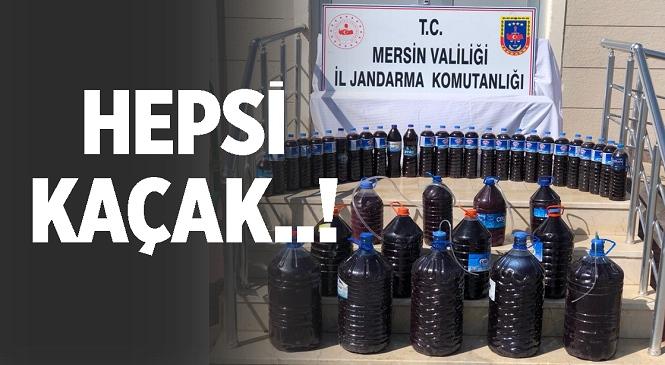 Mersin'de Jandarma Kaçak Üretilen 200 Litre Alkollü İçkiye El Koydu