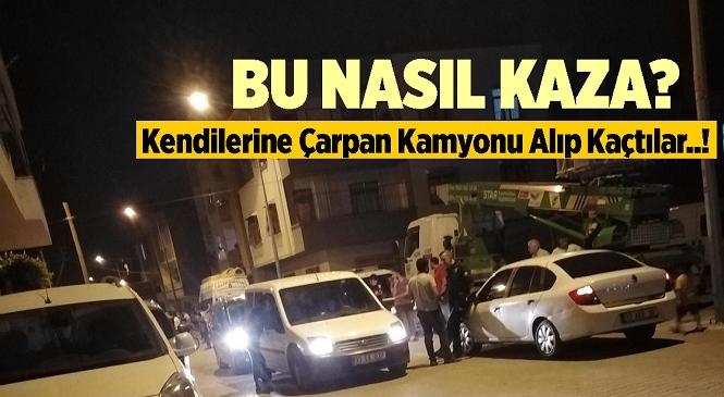 Mersin'in Akdeniz İlçesinde Kamyonet İle Motosiklet Çarpıştı! Kaza Sonrası Kendilerine Çarpan Kamyoneti Gasbeden Motosikletteki Şahıslar Kayıplara Karıştı