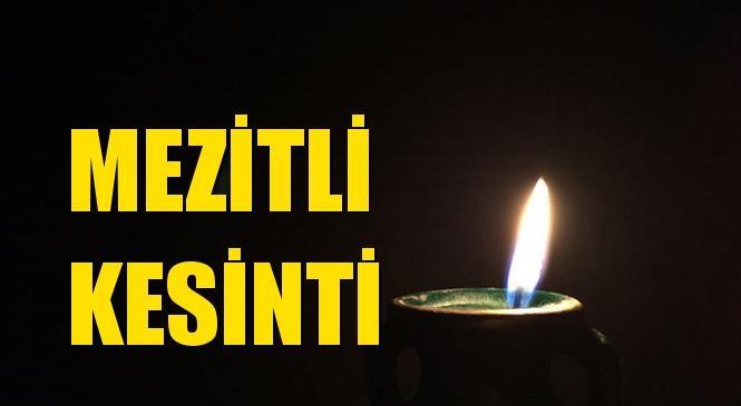 Mezitli Elektrik Kesintisi 20 Ekim Çarşamba