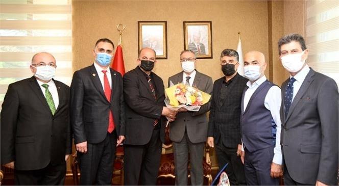 19 Ekim Muhtarlar Günü Kapsamında Muhtarlar Mersin Valisi Ali İhsan Su'yu Ziyaret Etti