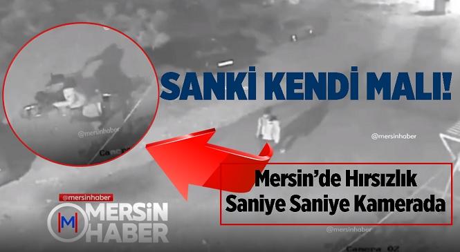 Mersin'in Silifke İlçesinde Motosiklet Hırsızı Kameraya Yakalandı! Motosikleti Alıp Kaçan Hırsızın Rahatlığı Pes Dedirtti