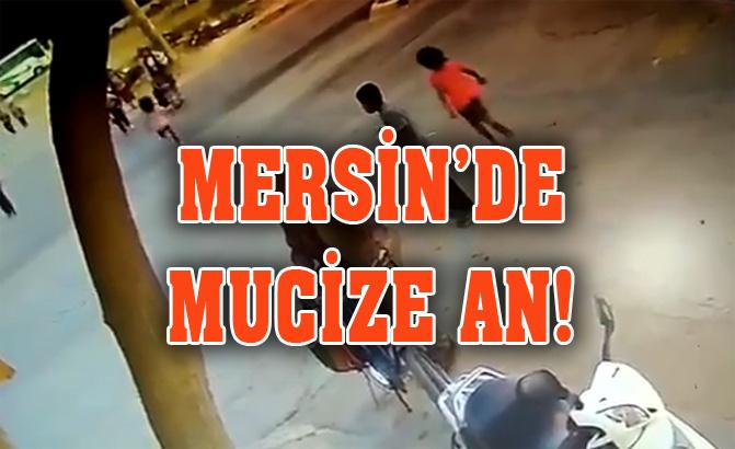 Mersin'de Mucize An! Hızla Yola Koşan Çocuk