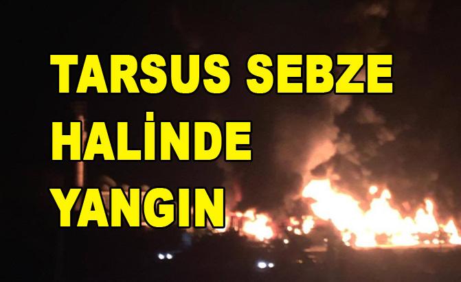 Tarsus Sebze Halinde Yangın