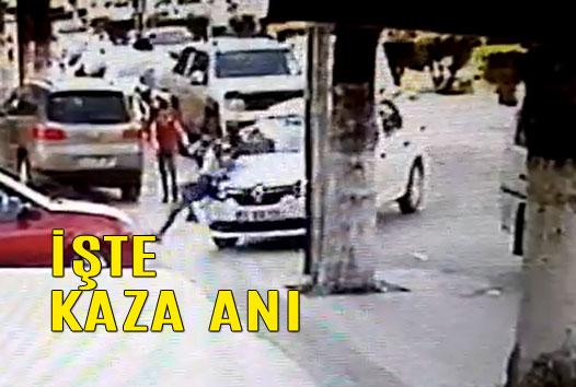 Tarsus'ta Otomobilin Çarptığı Yaya 2 Aracın Arasında Kaldı