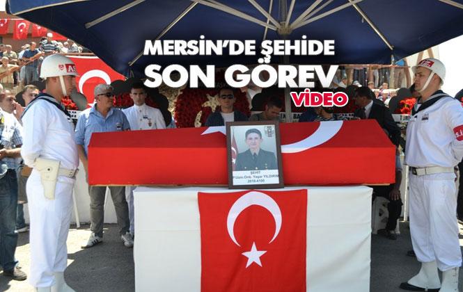 Şehit P.Uzm. Onb. Yaşar Yıldırım, Mersin Bozyazı'da Son Yolculuğuna Uğurlandı