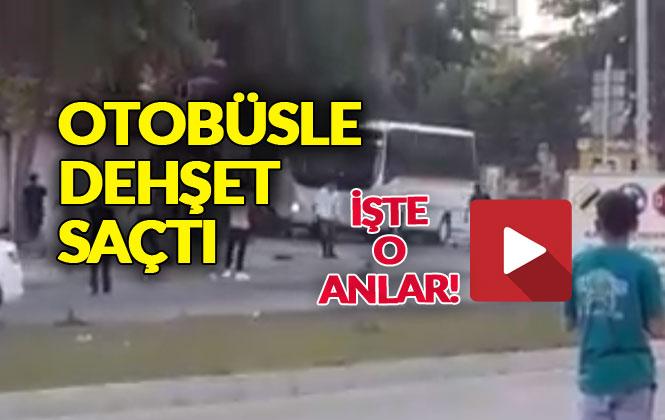 Mersin'de Dehşete Düşüren Görüntüler: Otobüsle Kebapçı Dükkanını Bu Hale Getirdi