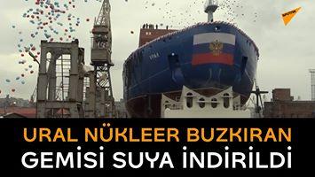 Ural Nükleer Buzkıran Gemisi Suya İndirildi