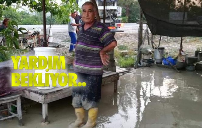 Mersin'de Yaşlı Çiftin Evi Sular Altında Kalıyor