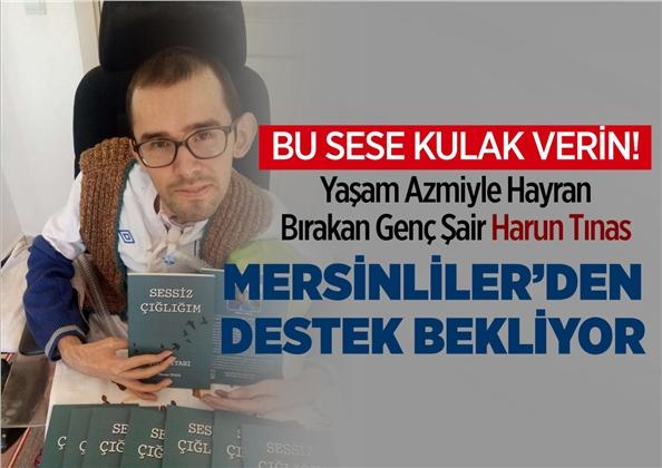 """Azmiyle Kendisine Hayran Bırakan Mersinli Genç Harun Tınas'ın Kitabı """"Sessiz Çığlığım"""""""