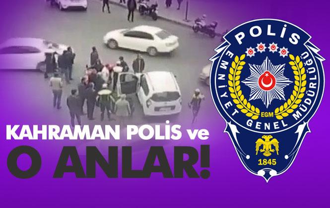 Kahraman Polis, Vatandaşın Hayatını Kurtardığı Anlar! İşte O Görüntüler