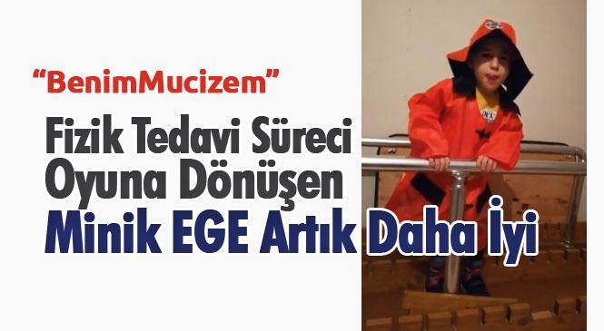 Mersin'de Yaşayan Özbay Ailesi, Serebral Palsi Hastası Çocukları Minik Ege'nin Fizik Tedavi Sürecini Oyuna Dönüştürdü